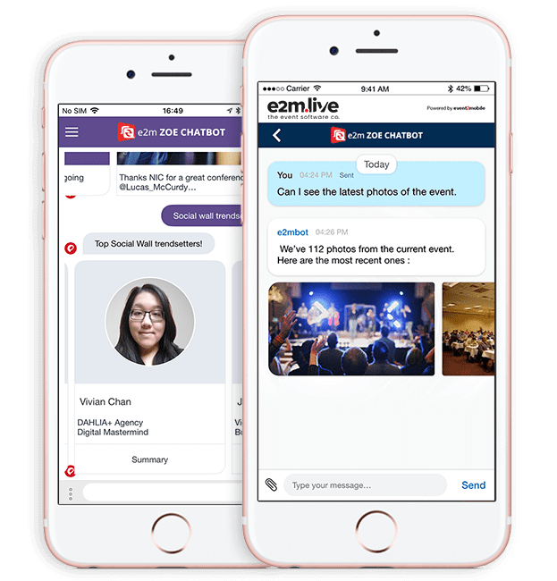 Industry First Messenger Bot For Event Scheduling App | e2m live